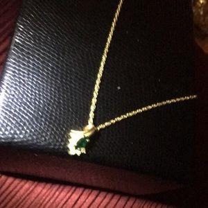 Beautiful emerald necklace